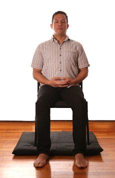 chair sitting meditation