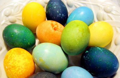 Natural Vegetables Easter Eggs Colors