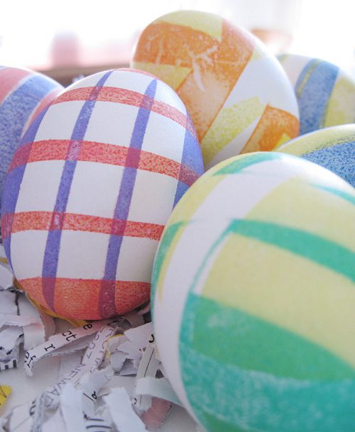 Stripped Easter Eggs