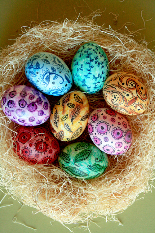 Watercolors eggs