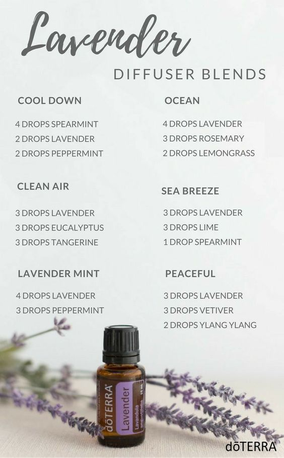 doTERRA lavender blends