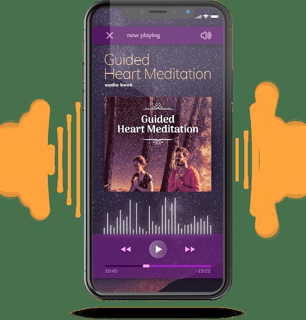 guided heart meditation mockup